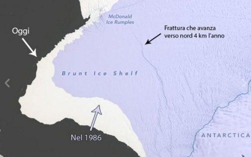 Antarctica, huge iceberg threatens to break away: twice great New York